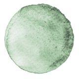 Cerchio grigio dell'acquerello Macchia con struttura di carta Elemento di progettazione isolato su fondo bianco Modello astratto  fotografie stock libere da diritti