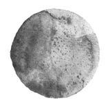 Cerchio grigio neutrale dell'acquerello su fondo bianco illustrazione vettoriale