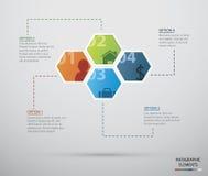 Cerchio infographic Fotografia Stock
