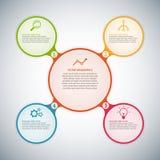 Cerchio infographic illustrazione di stock