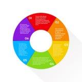 Cerchio Infographic del grafico a settori di finanza finanziario Fotografie Stock Libere da Diritti