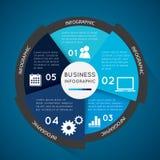 Cerchio infographic di affari Fotografie Stock Libere da Diritti