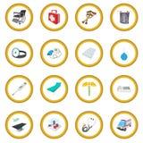 Cerchio isometrico medico dell'icona 3d immagine stock