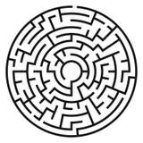 Cerchio Maze Vector royalty illustrazione gratis