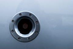Cerchio metallico con i ribattini fotografia stock libera da diritti