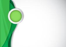 Cerchio per l'argomento ed il fondo verde royalty illustrazione gratis