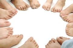 Cerchio perfetto dei piedini isolati Fotografia Stock