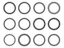 Cerchio piacevole in bianco e nero Immagini Stock Libere da Diritti