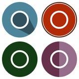 Cerchio piano delle icone Immagini Stock