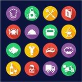 Cerchio piano di progettazione delle icone di affari di approvvigionamento illustrazione di stock