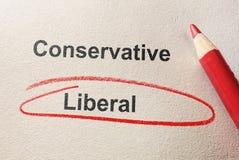 Cerchio rosso liberale immagine stock libera da diritti