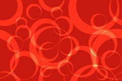 Cerchio rosso Ring Abstract Background Seamless Pattern Illustrazione di Stock
