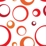 Cerchio rosso Ring Seamless Pattern Background Immagine Stock Libera da Diritti