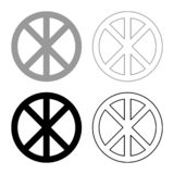 Cerchio rotondo trasversale sul segno di infinito di Cristo del corpo delle parti di concetto del pane nell'illustrazione nera di royalty illustrazione gratis