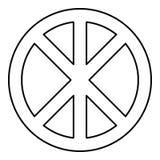 Cerchio rotondo trasversale sul segno di infinito di Cristo del corpo delle parti di concetto del pane nell'illustrazione religio illustrazione di stock