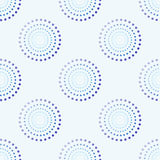 Cerchio senza cuciture Dots Blue Background Abstract Pattern 1 Fotografie Stock