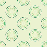 Cerchio senza cuciture Dots Green Background Abstract Pattern 1 Immagine Stock