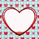 Cerchio senza giunte della scheda di amore Immagine Stock Libera da Diritti