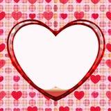Cerchio senza giunte della scheda di amore Immagine Stock