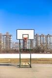 Cerchio solo del baseketball Fotografia Stock Libera da Diritti
