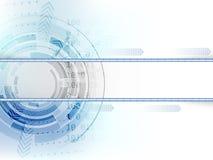 Cerchio tecnologico con le frecce su fondo astratto illustrazione vettoriale
