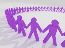 Cerchio umano Fotografia Stock Libera da Diritti