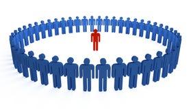 Cerchio umano illustrazione vettoriale