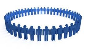 Cerchio umano illustrazione di stock