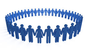 Cerchio umano royalty illustrazione gratis