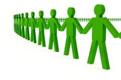 Cerchio umano Immagini Stock Libere da Diritti