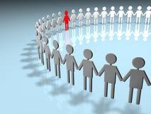 Cerchio umano Fotografie Stock
