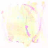 Cerchio variopinto della pittura di arte del fondo dell'acquerello Immagine Stock