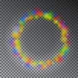 Cerchio variopinto di magia di colore di vettore Effetto d'ardore dell'anello dell'arcobaleno Immagini Stock Libere da Diritti