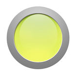 Cerchio verde Fotografia Stock