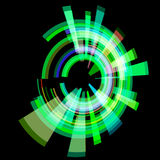 Cerchio verde astratto ad angolo trama Immagine Stock