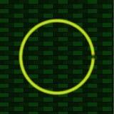 Cerchio verde brillante, modello in bianco della struttura di VETTORE, concetto di energia di Eco Fotografia Stock