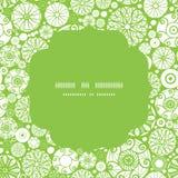 Cerchio verde di vettore e bianco astratto dei cerchi Fotografia Stock