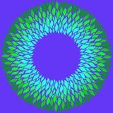 Cerchio verde intenso su fondo porpora illustrazione vettoriale