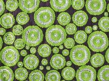 Cerchio verde, modello del fondo di tessuto Immagini Stock Libere da Diritti