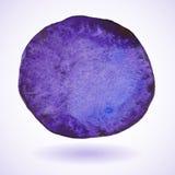 Cerchio viola della pittura dell'acquerello Fotografia Stock