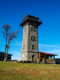 Cerchov tower. View tower on Cerchov (Cesky les Royalty Free Stock Photography