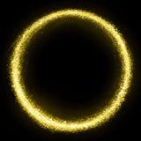 Cercle éclatant de la poussière d'étoile d'or images libres de droits