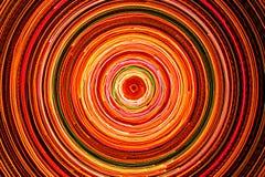 Cercle électrique rougeoyant lumineux Photos stock