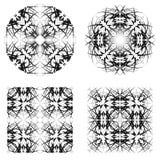 Cercle abstrait et modèles carrés Photos libres de droits