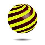 Cercle abstrait Logo Design, vecteur de spirale du globe 3D Logo de cercle avec l'ombre illustration de vecteur