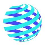 Cercle abstrait Logo Design Vector illustration libre de droits