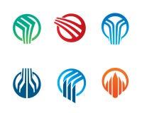 Cercle abstrait Logo Template Design Vector, emblème, concept de construction, symbole créatif, icône Photos libres de droits