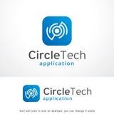 Cercle abstrait Logo Template Design Vector, emblème, concept de construction, symbole créatif, icône de monogramme Image libre de droits