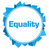 Cercle aléatoire bleu de formes d'égalité Photos stock