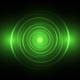 Cercle au néon vert illustration de vecteur